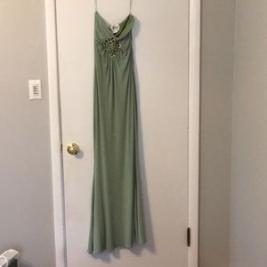 Olive green Jovani prom gown